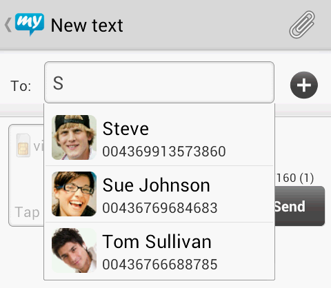 contacts sync mysms