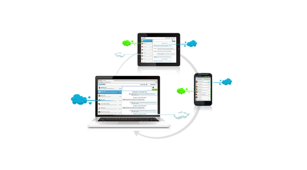mysms sync Android web app