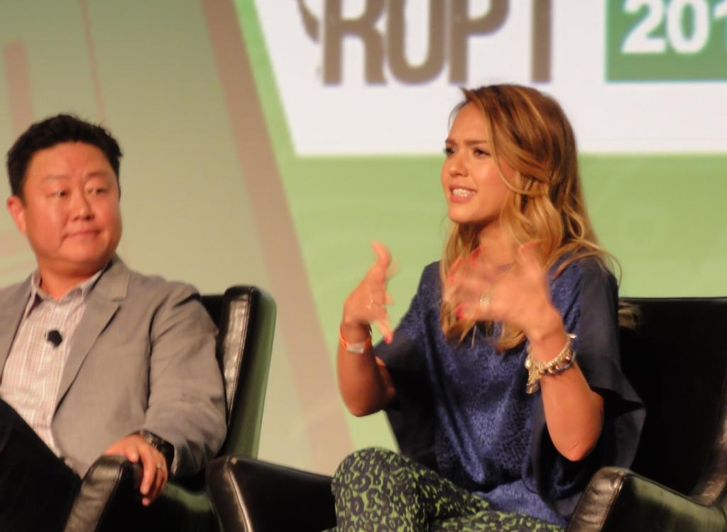 Jessica Alba talking about her role as entrepreneur
