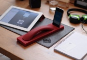 Bluetooth handset and base with Smartphone dock