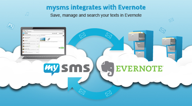 mysms integrates with Evernote