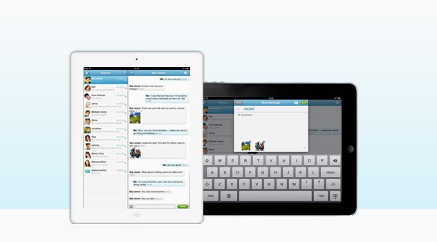 The brand new mysms app for iPad