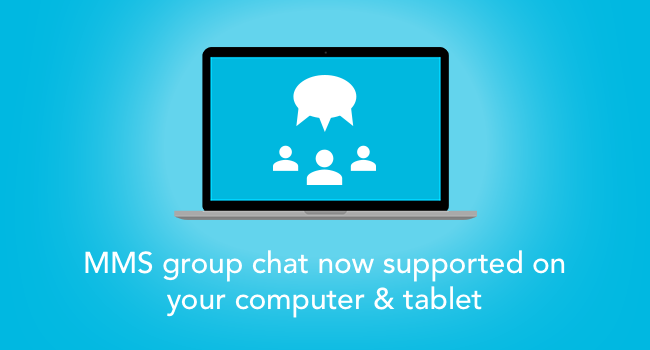 Compose group messages on your computer and tablet