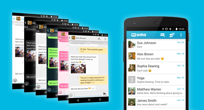 Customize your mysms app